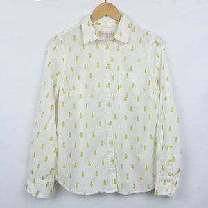 Merona Pineapple Casual Button Up Blouse
